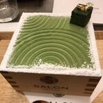 サロン ギンザ サボウ - 茶房パフェ濃いめ1400円。枯山水の庭園を連想させるルックスです。ボリュームがあります(^。^)