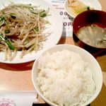 ニイハオ - 【日替ランチ】レバニラ定職(¥500)