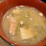 肉と漁師飯 浜右衛門 - サービスの お味噌汁