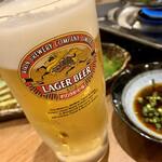 肉と漁師飯 浜右衛門 - 生ビール