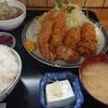 食事処うずめ - 料理写真:唐揚げ、イカフライ、カキフライの定食ご飯大盛り