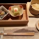 Umenohana - 小鉢、豆腐しゅうまい
