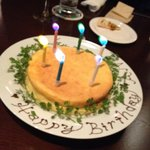 12378950 - 私メイドのただのチーズケーキをここまで可愛くしてくれました。
