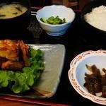 天婦羅 たる松 - 2012年3月。ね、定食にもできるでしょ。
