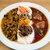 51 CURRY CAFE - 料理写真:今月のカレーはほうれんそうと豆のスープカリー(左)とスパイシーチキンカリー(右)