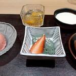 Restaurant つじ川 - デザート ヨモギのムース