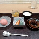 Restaurant つじ川 - デザート 5種