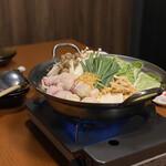 123816838 - 名古屋コーチン柚子胡椒ちゃんこ鍋