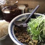 麺や てつ - ♪バリコク黒ゴマ坦々麺¥800 半ライス120