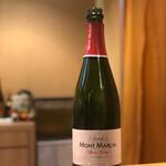 天麩羅 なか江 - スパークリングワイン、絶品だ!
