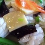 台湾料理故宮 - 12回目4/6日替わり イカと筍のオイスター炒め 800円