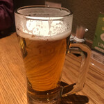 ひつまぶし和食備長 - 乾杯のビール