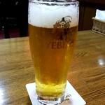 欧風カレー ボンディ - ヱビス生ビール:600円