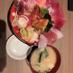 魚がし食堂 中央市場店 - ワタシと旦那さんと次女は同じ日替わりてんこ盛り丼