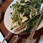 12384718 - 柚子胡椒のきいたサラダ。クセになる不思議な感覚。かなり好みでした。