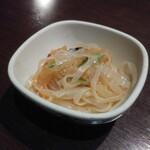 お座敷旬彩美食 夢吉 - お通し(チャージ料)500円