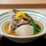 祇園 丸山 - 鯛のうま煮 蕪
