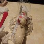 スナック琴子 - 昨晩はガッコとパンを口に入れてお出迎え・・。