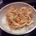 せんきち名代 - 野菜かき揚げ天丼.JPG