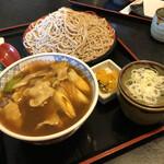 味奈登庵  - カレー丼セット(そば大盛)930円