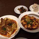 honkakushisenryourisantei - 回鍋肉と麻婆豆腐