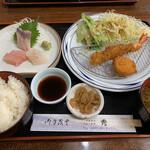 お食事処 秀 - おすすめ定食   1100円(税込)