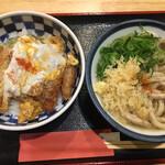 123875929 - カツ丼セット ( ´θ`) うどん 温