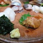 Shiduka - お造り・鰺・平目・墨イカ・金目鯛の漬け