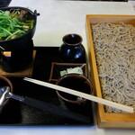 焔蔵 - 料理写真:仙台芹鴨小鍋板蕎麦(大)