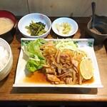 123889858 - 生姜焼き定食