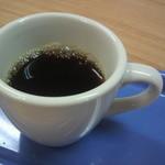 山田珈琲 - お店のオリジナルブレンドを試飲させていただきました(ミニカップです)