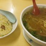 蓬珉軒 - 半チャー&味噌ラーメン