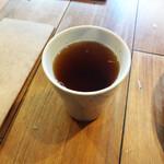 カフェ コメコ - ホットモロコシ茶(ドリンクセット)…200円