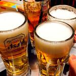 123907166 - 生ビールと烏龍茶で乾杯〜
