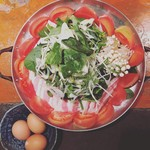 Kitchen Bar でん - トマトすき焼き鍋