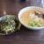 竹ちゃんラーメン - 2020年1月 塩ラーメンとミニ炙りチャーシュー丼