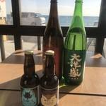 浜料理 あら珠 - 新潟の銘酒  大洋盛と鎌倉ビール
