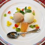 地中海食堂 タベタリーノ - 【2012-03-24】ドルチェ:本日のアイスクリーム
