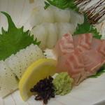 旬菜 一笑 - 造り盛り3種