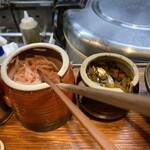 久留米らーめん 金丸 - 紅ショウガ&高菜