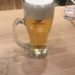 大栄ラーメン  - ビール(笑)