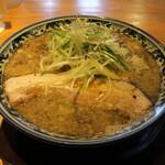 麺屋 八海山 - 煮干そば(850円、斜め上から)