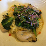 イタリアンダイニングDONA - 広島牡蠣と小松菜のアンチョビバターソース