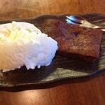Cafe ポカラ - ブラウニー&アイスクリーム:450円