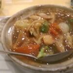 123949619 - 牛バラ肉の広東風土鍋