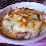 12395049 - 今月のランチ997円!グラタンメニューは浜千鳥のドリア。熱々で、最高に美味しいです。あとはパンにサラダ、ドリンク付き。ゆっくりできます。