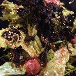 煮炊屋 金菜 - 和牛タタキと九条葱の海苔サラダ