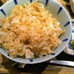 123950601 - 玄米!艶やかな白米も良いですが色がまばらでボソっとしてますが、たまに玄米も良いですね。