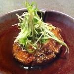 12396039 - 一品目牡蠣豆腐の揚物☆しっかり目のお味です。