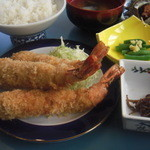 カネシチ水産 - エビフライ定食1575円